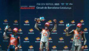 Nuevo podio del onubense Hugo Millán en el Mundial Junior de Motociclismo.