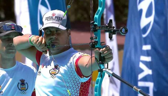 Miguel Ángel Medina disputando la final por la medalla de bronce.