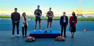 El estonio Rasmus Mägi y la británica Holly Bradshaw, nominados mejores atletas de la reunión celebrada en Huelva.. / Foto: @atletismoRFEA.