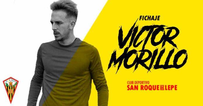 El San Roque de Lepe ha hecho oficial el fichaje del delantero Víctor Morillo. / Foto: @SanRoqueLepe.