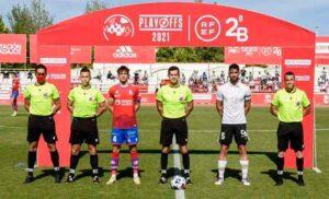 Quintero González fue el colegiado que arbitró el Burgos-Calahorra de la fase de ascenso a Segunda. / Foto: BCF Media.