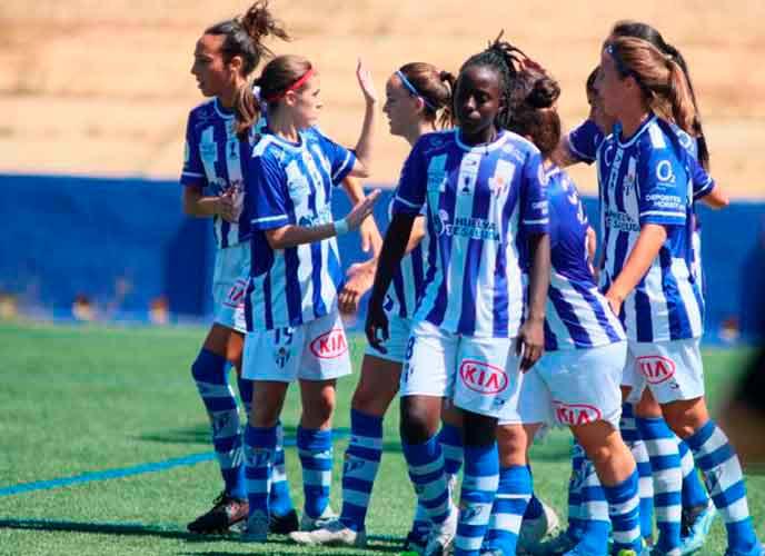 El cuadro sportinguista pudo remontar para cerrar el curso 2020-21 con una victoria ante el Santa Teresa en La Orden. / Foto: www.lfp.es.