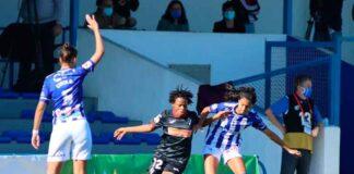 En la primera vuelta en Huelva, el Sporting vio como el Éibar empató al final tras ir ganando por 2-0. / Foto: www.lfp.es.