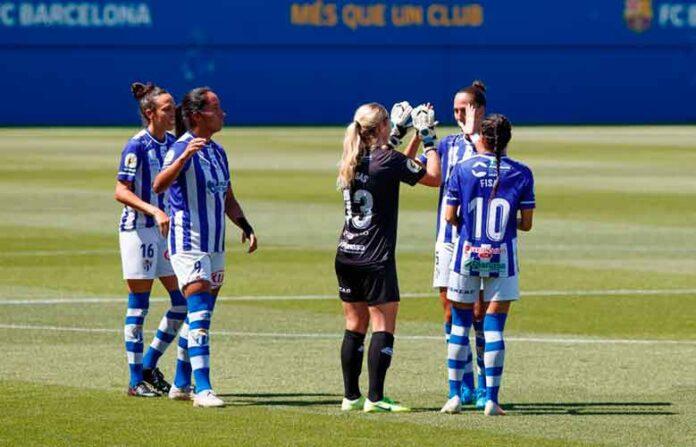 El Sporting de Huelva cierra el curso 2020-21 recibiendo este domingo (11:30) al Santa Teresa pacense. / Foto: www.lfp.es.