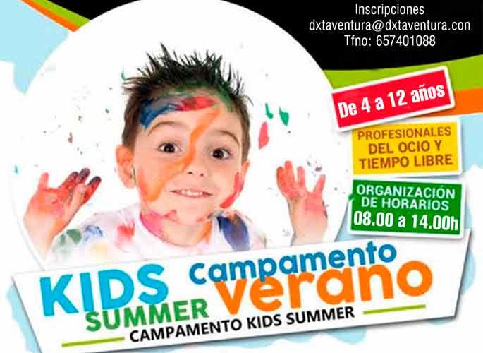 Cartel anunciador del Campus Deportivo de Verano que se desarrolla en las instalaciones municipales de Cartaya.