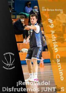 Adri Camino seguirá un año más en las filas del CDB Enrique Benítez. / Foto: @CDB_EBenitez.