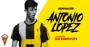 El defensa Antonio López jugó 24 partidos, acumulando más de 1.800 minutos. / Foto: @SanRoqueLepe .