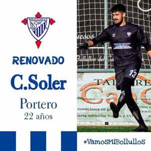 El meta Carlos Soler continuará un temporada más en el Bollullos. / Foto: @bollulloscf1933.