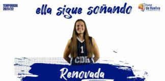 Isabel Ogazón continuará una temporada más en el Ciudad de Huelva de la LNF1. / Foto: @CiudadDeHuelva.