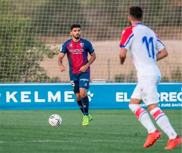 Manu Galán llega procedente del filial del Huesca y puede jugar también como pivote defensivo. / Foto: UD Pilas.
