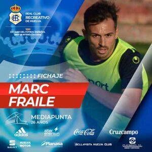 Marc Fraile es el décimo fichaje que hace oficial el Recreativo de Huelva. / Foto: @recreoficial.