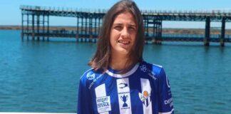El buen trabajo de Paula Romero le ha llevado al primer equipo del Sporting de Huelva. / Foto: @sportinghuelva.