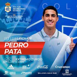 Pedro Pata, octavo fichaje que hace oficial el Recre para la temporada 2021-22. / Foto: @recreoficial.