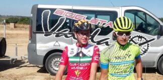 Ana María Mena y Carlos Tienda, ganadores en la prueba celebrada en Bollullos. / Foto: Circuito Provincial de Huelva Carretera Escuelas 2021.