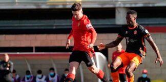 Enric Martínez ha jugado 34 partidos marcando dos goles en las dos últimas temporadas en el filial mallorquinista. / Foto: @RCD_Mallorca.