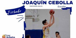 Joaquín Cebolla, escolta procedente del CB Coria, se incorpora a la plantilla del Ciudad de Huelva para la temporada 2021-22. / Foto: @CiudadDeHuelva.