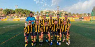 Formación inicial del San Roque en el partido jugado en Bailén ante el Limares Deportivo. / Foto: San Roque de Lepe.