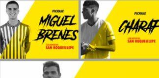 El San Roque se refuerza con el lateral Brenes, el mediapunta Charaf y el delantero Espinar. / Foto: @SanRoqueLepe.