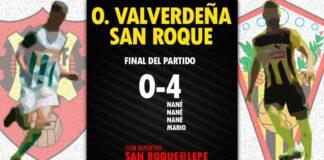 Victoria del San Roque en el feudo de la Olímpica Valverdeña en su segundo partido de la pretemporada. / Foto: @SanRoqueLepe.