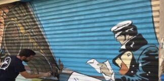Un ejemplo de arte urbano de Victor 'Konestilo'