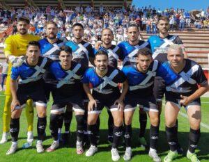 Formación del Bollullos en su partido de este domingo en La Palma. / Foto: @bollulloscf1933.