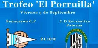 Cartel del partido benéfico que se celebra este viernes entre el Benacazón y el Recreativo Paterna.