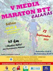 Cartel anunciador de la prueba ciclista que tendrá lugar en Calañas.