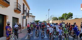Éxito de la Ruta Cicloturista del Niñ@ en Trigueros, evento organizado por el Club Ciclista La Alcolea.