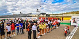 Un momento del nuevo homenaje que recibió el malogrado piloto onubense Hugo Millán.
