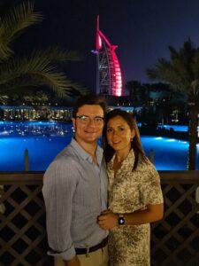 Jose Antonio Ahumada con su mujer