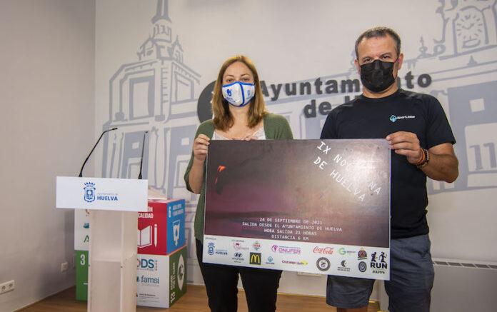 Un momento de la presentación de la IX Carrera Nocturna de Huelva que tendrá lugar este viernes.