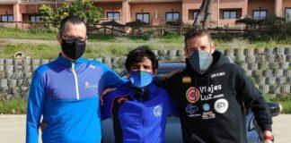 Los 'runners' Antonio Bendala, José Carlos Galván y Luis Flores afrontan este domingo en Madrid la séptima parada de 'La Ruta del Rey de Europa'.