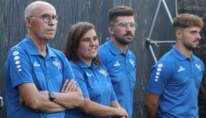 Parte del cuerpo técnico del Sporting de Huelva para la temporada 2021-22. / Foto: @sportinghuelva.