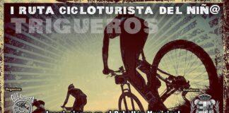 Cartel anunciador de la I Ruta Cicloturista del Niñ@, organizada por el Club Ciclista La Alcolea de Trigueros.