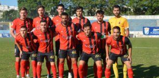 Formación inicial del Cartaya en el partido de la jornada anterior ante el XerezDeportivo. / Foto: Eduardo Rabaneda.