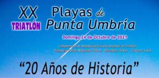 Todo está a punto para la celebración el próximo domingo del XX Triatlón 'Playas de Punta Umbría'.