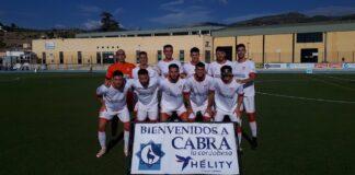 Formación de La Palma en Cabra, donde venció al Egabrense este domingo. / Foto: @DEgabrense.