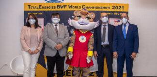La Casa Colón ha acogido este jueves la presentación de los Mundiales de Bádminton de Huelva.