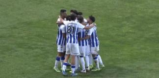 El Recre acude a su cita liguera en Lebrija con la intención de ganar al Atlético Antoniano. / Foto: Captura imagen Recreativo de Huelva.
