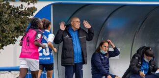 Antonio Toledo, técnico del Sporting, cumple este domingo 450 partidos en la máxima categoría del fútbol femenino español. / Foto: www.lfp.es.