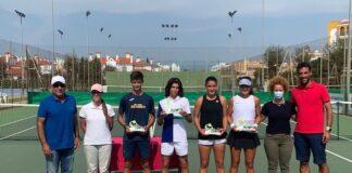 Los ganadores del Campeonato de Andalucía de Tenis sub 15 celebrado estos días en El Portil.