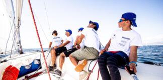 Los compañeros de equipo de Ricardo Terrades en Calpe son Gabriela Gil, David Martín, Pedro de León y Alberto Morales. / Foto: Pedro Martínez/Sailing Energy.