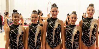 Equipo Cadete formado por Noa, Lorena, María, Victoria y Fátima, clasificado para el Campeonato de España Base.